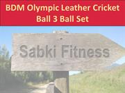 BDM Olympic Leather Cricket Ball 3 Ball Set  - Sabkifitness.com