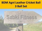 BDM Agni Leather Cricket Ball 3 Ball Set - Sabkifitness.com