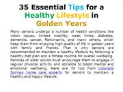 35 Essential Tips for a Healthy Lifestyle in Golden Years