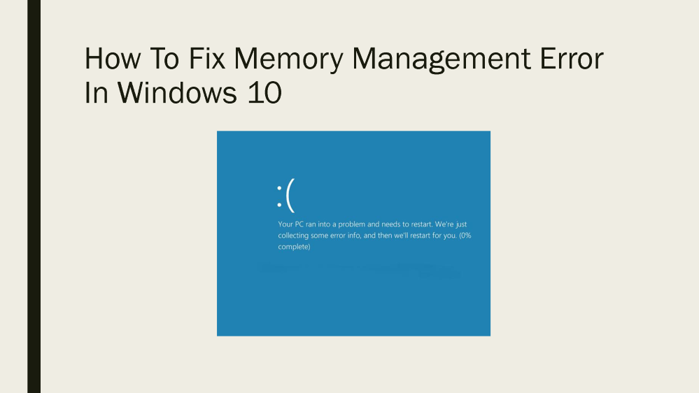 windows memory management fix