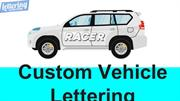 Custom Vehicle Lettering - Car decals & lettering