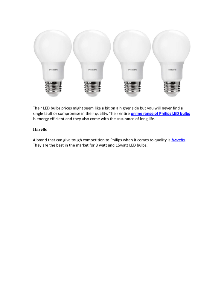 Top 10 Indian Branded Led Bulbs Compared Authorstream