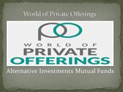 Alternative Investments Mutual Funds
