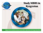 Admissions Open in MBBS in Kyrgyzstan
