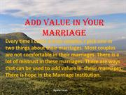 Add Value in Your Marriage