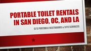 Portable Toilet Rentals in So Cal