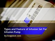 Types and Feature of Infusion Set For Infusion Pump - Angiplast.com