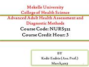 Chapter 1 Introduction to Adult Health Assesment