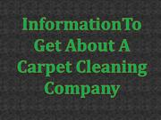 Information to get about a carpet cleaning company