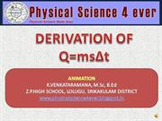derivation of Q=mst