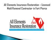 Licensed Mold Removal Contractor in Fort Pierce
