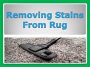 Removing Stains from Rug