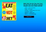 BEST PDF The Eat This Not That NoDiet Diet The World s Easiest WeightL