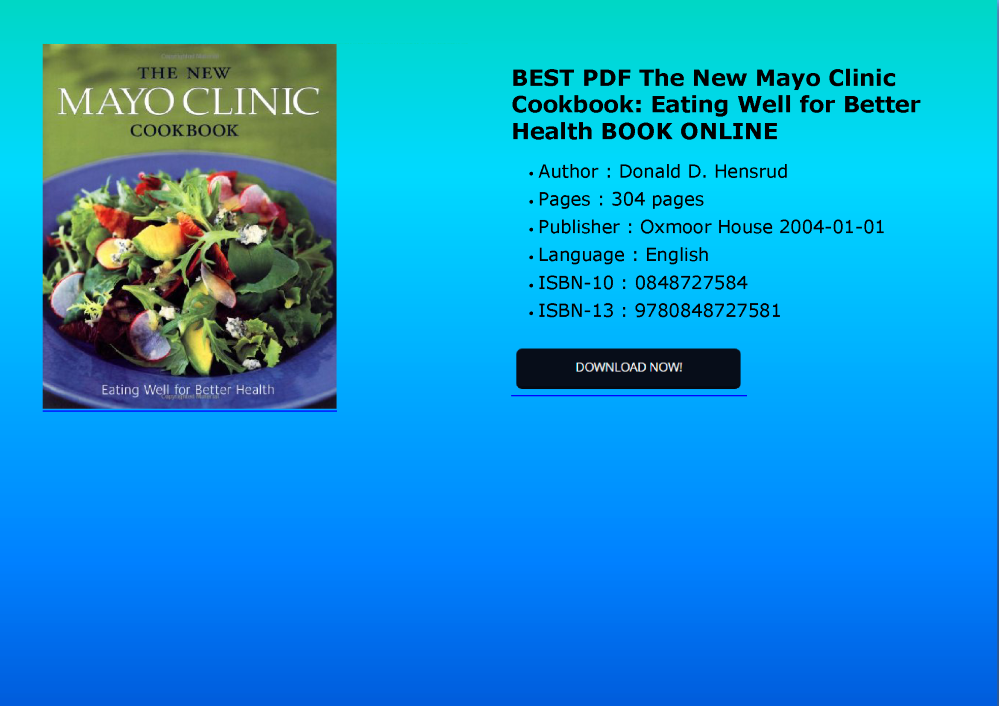 Best pdf the new mayo clinic cookbook eating well for better healt best pdf the new mayo clinic cookbook eating well for better health bo forumfinder Choice Image