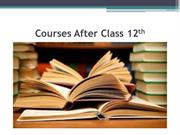 Courses after Class 12th