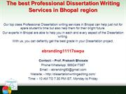 89 The best Professional Dissertation Writing Services in Bhopal regio