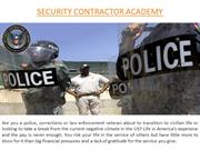 Security Contractor Academy