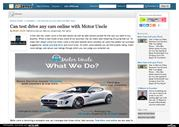 Can test drive any cars online with Motor Uncle