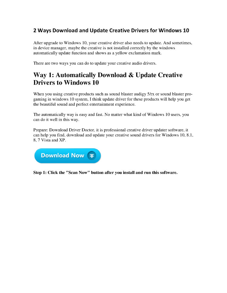 2 Ways Download And Update Creative Drivers for Windows 10
