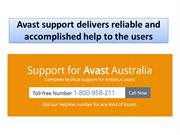 Avast support delivers reliable and accomplished help to the users