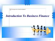 Introduction To Business Finance - Mauneel Desai