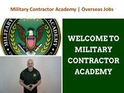 Military Contractor Academy
