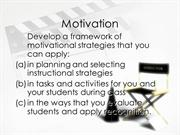 Motivation and Management