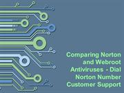 Comparing Norton and Webroot Antiviruses - Dial Norton Number Customer
