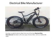 Electrical Bike Manufacturer