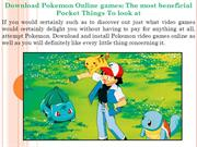 Download Pokemon Online games The most beneficial Pocket Things To loo