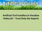 Artificial Turf Installers in Paradise Valley AZ