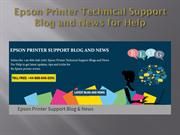 Epson Printer Technical Support Blog and News for help