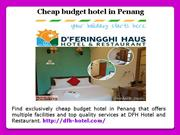Cheap budget hotel in Penang