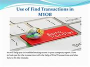 Use of Find Transactions in MYOB