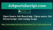 Open Source Job Board php, Open source Job Portal Script, Job Listing
