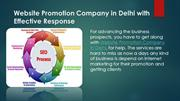 Website Promotion Company in Delhi with Effective Response
