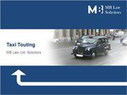 Taxi Touting Charges | Taxi Offences | Motoring Offence Lawyers