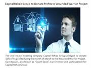 Capital Rehab Group to Donate Profits to Wounded Warrior Project
