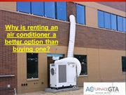 Air Conditioner Rental Mississauga