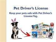 Get Pet Drivers License ID for your dog