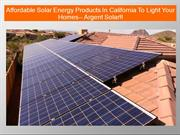 Argent Solar's Offers Highly Efficient Solar Energy Products For Maxim