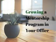 Marc Bombenon | Growing a Mentorship Program in Your Office