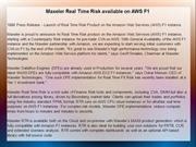 Maxeler Real Time Risk available on AWS F1