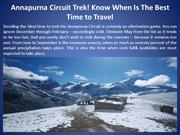 Annapurna Circuit Trek! Know When Is The Best Time to Travel