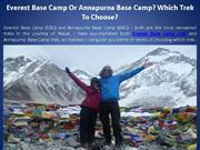 Everest Base Camp Or Annapurna Base Camp? Which Trek To Choose?
