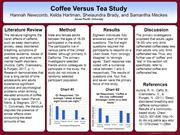 Coffee Versus Tea Study