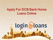 DCB Bank Home Loans , Apply For DCB Bank Home Loans Online , DCB Bank