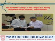 Best Reputed MBA Colleges In India – Helping Turn Aspiring Management