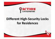 Different High-security Locks for Residences
