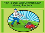 How To Deal With Common Lawn Mowing Problems